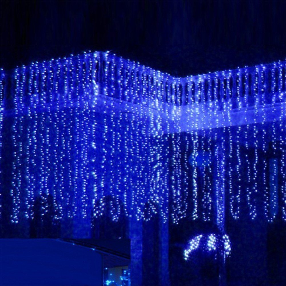 starlight led outdoor string lights 300 icicles christmas lights white eu plug