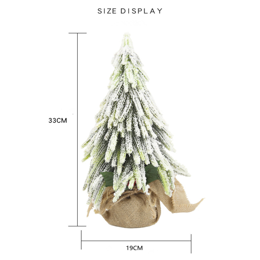 Artificial Flower Snowflake Christmas Tree Decorations Table Ornaments
