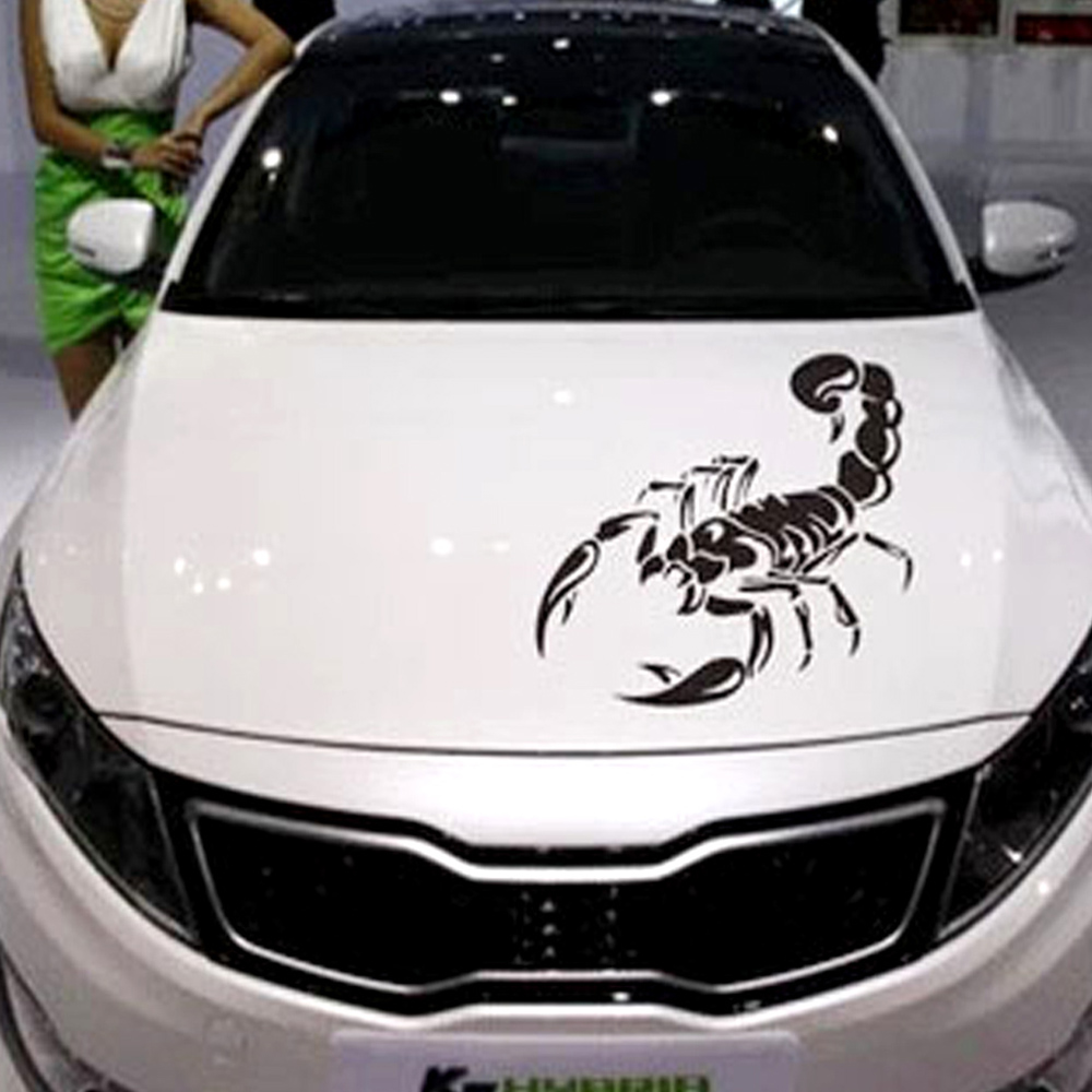 Car sticker 3d scorpion pattern abarth vinyl decal sticker for car decoration black 1pc