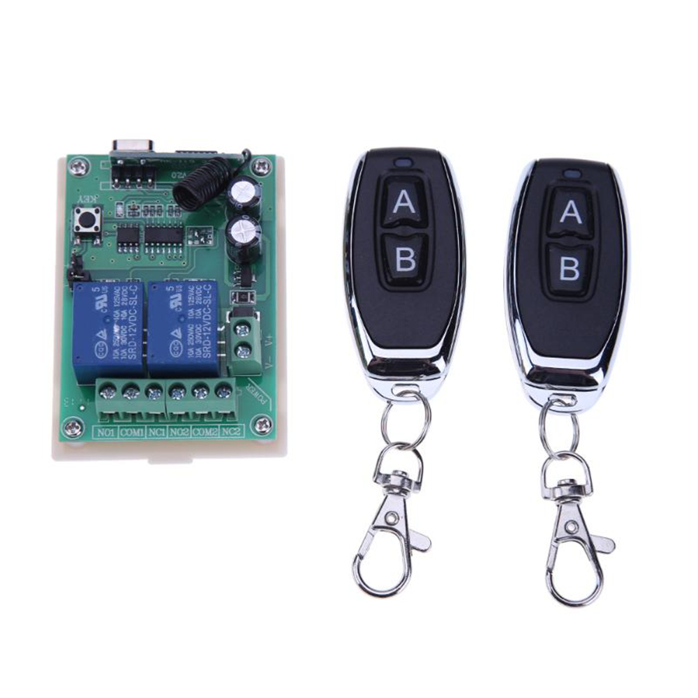 433mhz Wireless Remote Control Switch Dc 12v 1ch 2ch Relay Receiver Transmitter Multi B