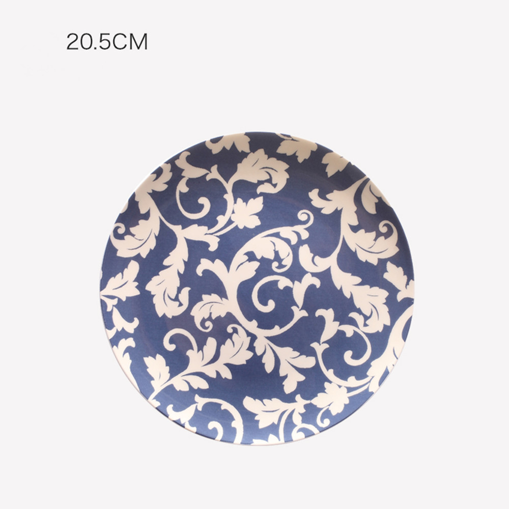Ceramic Plate Wall Art Home Wall Hanging Decorations- Multi-A