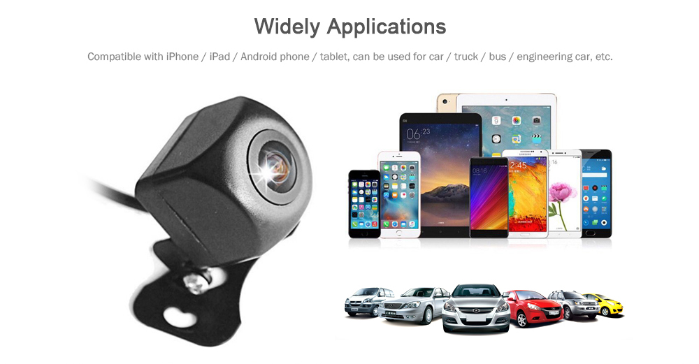 HD Wireless Wifi Reversing Blind Zone Camera with Intelligent Video Night  Vision Mobile Phone Display Car Rear View Image Monitoring