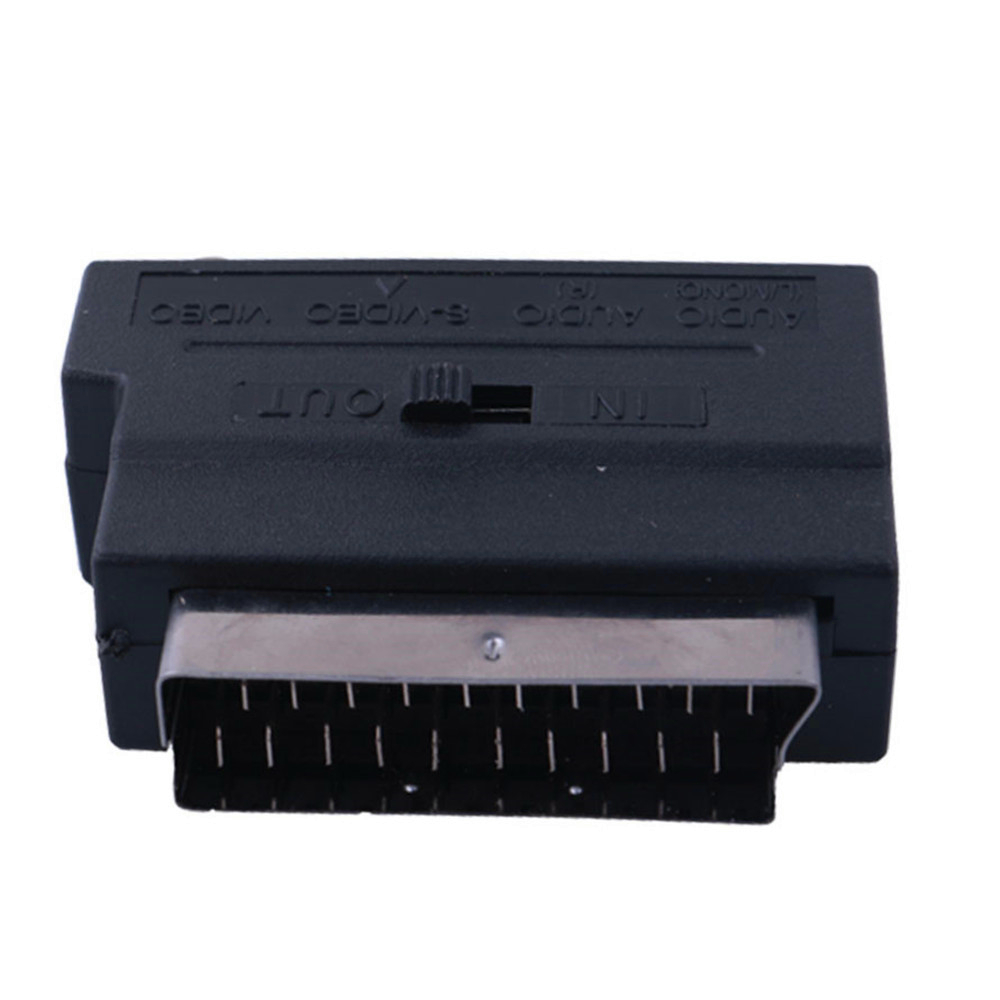 Scart Adapter Scart male to 3x RCA and S-VHS video in out