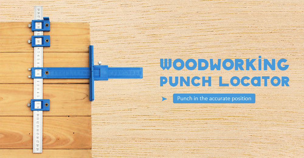 Hardware Punch Locator Woodworking Drill Guide Tool- Blue