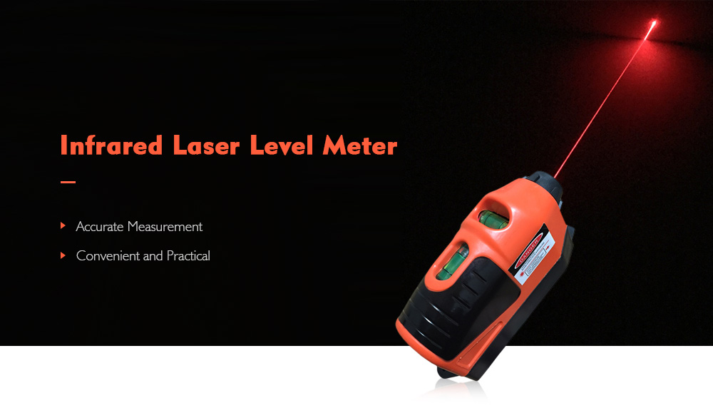 Portable Infrared Laser Level Meter Accurate Measurement- Bright Orange