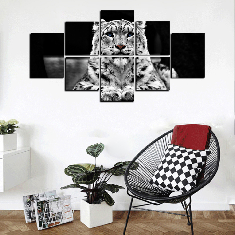 YISHIYUAN 8 Pc HD Inkjet Paints Abstract Black White Tiger Pittura decorativa- Multi 20cm*20cm*4pcs+20cm*25cm*2pcs+20cm*30cm*2pcs