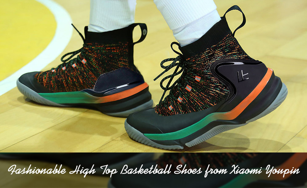 e0a3bcd8c49941 Fashionable High Top Basketball Shoes from Xiaomi Youpin- Dark Forest Green  EU 45