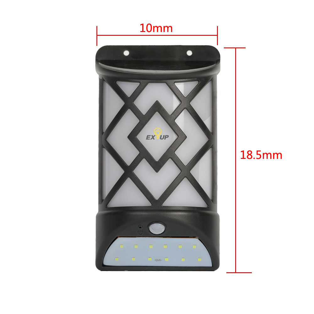 Flame lamp human body induction- Black 1pc
