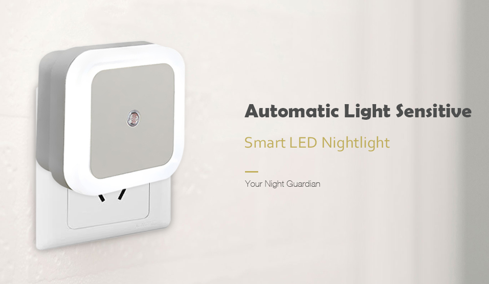 Praktisk Smart LED Night Light Soveværelse Induktion Hvid US Plug