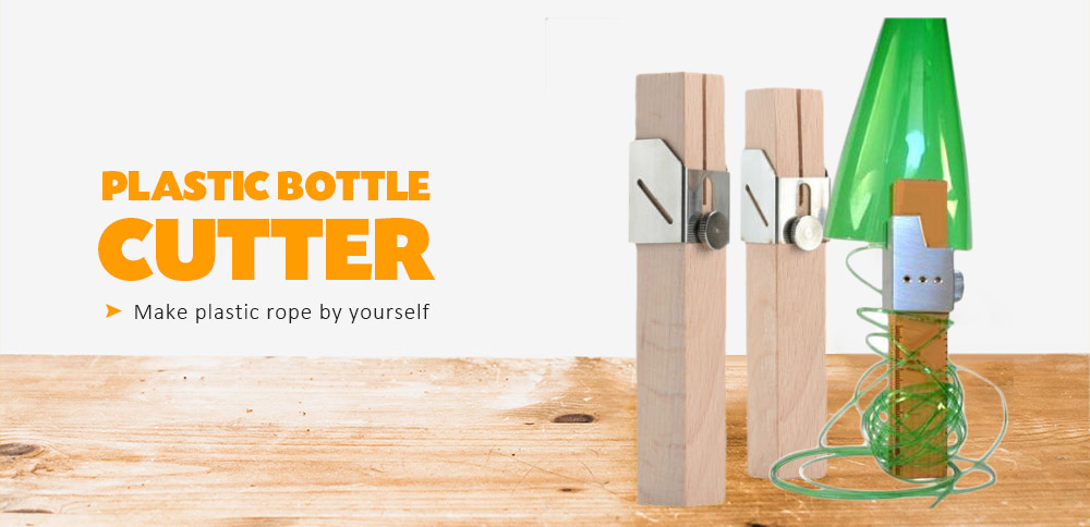 Plastic Bottle Cutter Portable Smart Bottles Rope Maker DIY Craft Tool- Tan