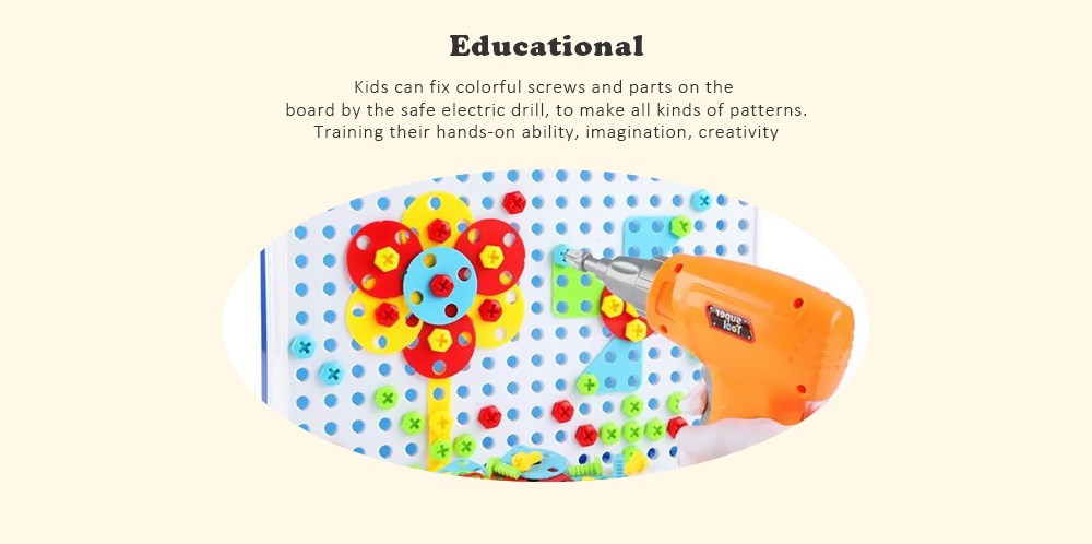 Assembled Building Blocks Electric Drill Toy For Kids 17 99 Free