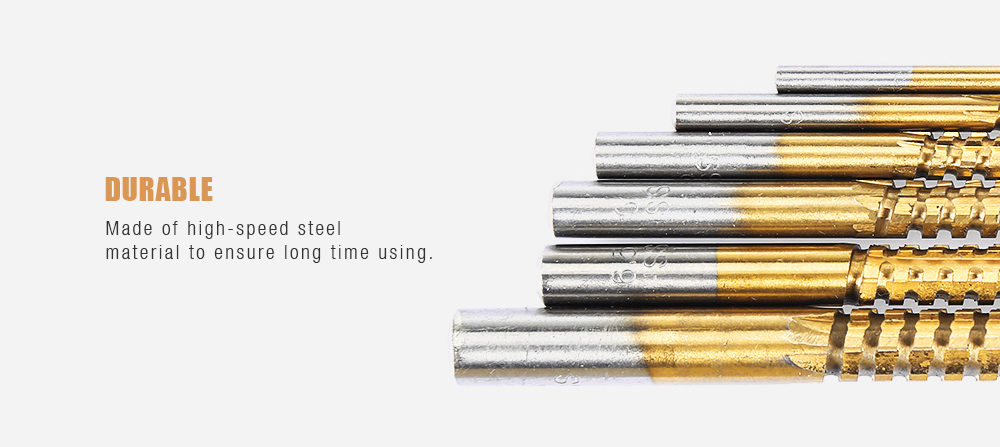 6PCS High-speed Steel Saw Drill Bit Woodworking Tool- Silver and Golden