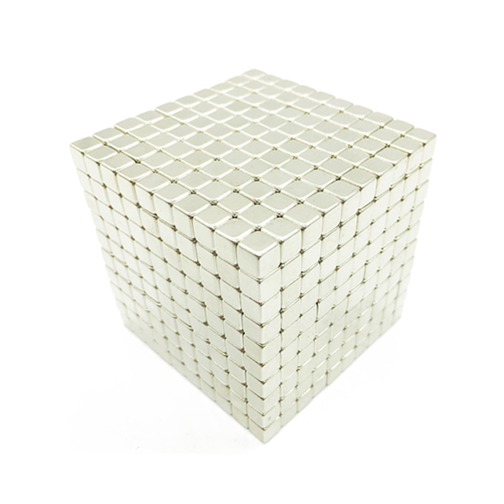 1000Pcs 5mm DIY Block Magic Magnetic Ball Cube Magnets Puzzle Toy Gift- Silver