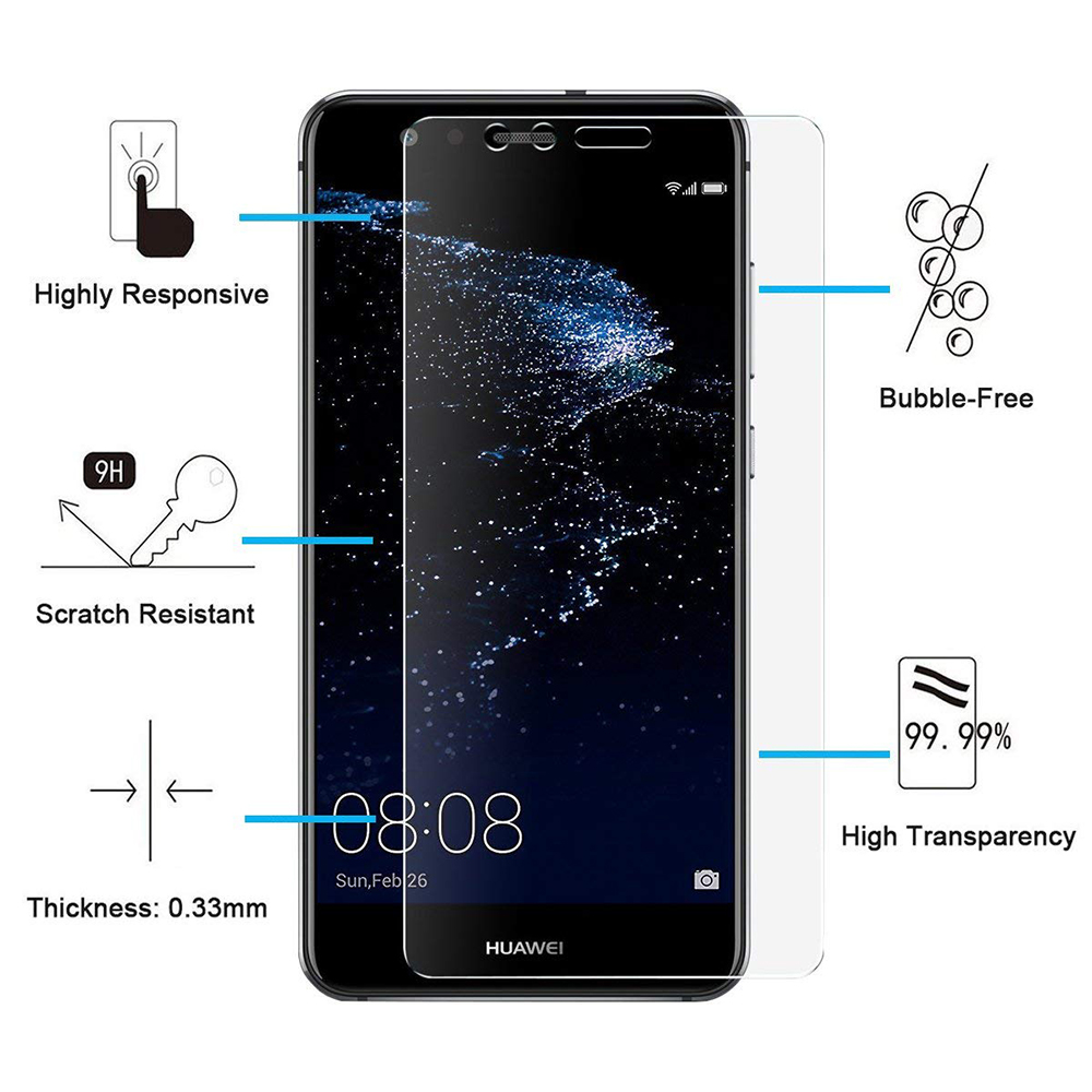 Hd Screen Protector Full Coverage Tempered Glass For Huawei P10 Lite Smile Xiaomi Redmi Note4x Clear Transparent