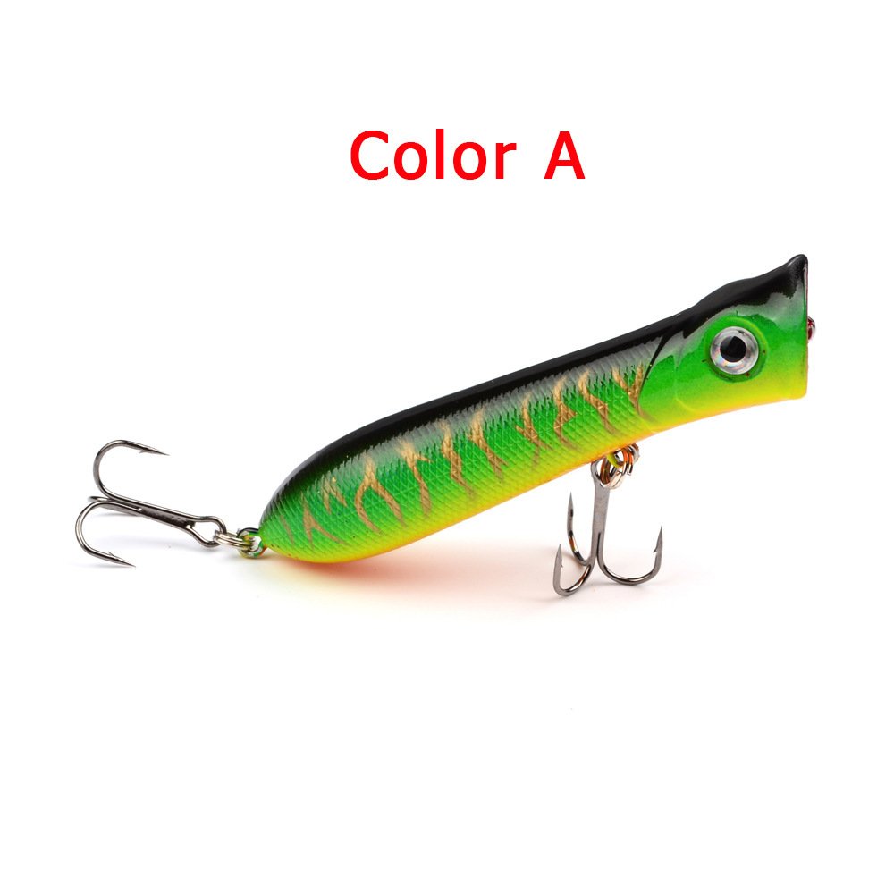 10pcs 8cm 11g Popper Fishing Lure Due ganci Wobbler Popper artificiale- Multi