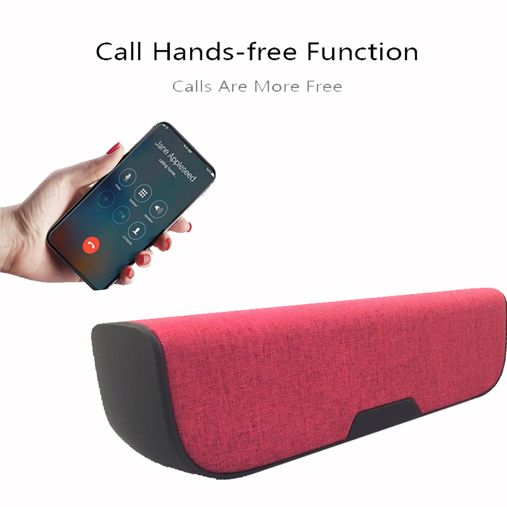 Cover in tessuto IP65 Altoparlante Bluetooth impermeabile- Red