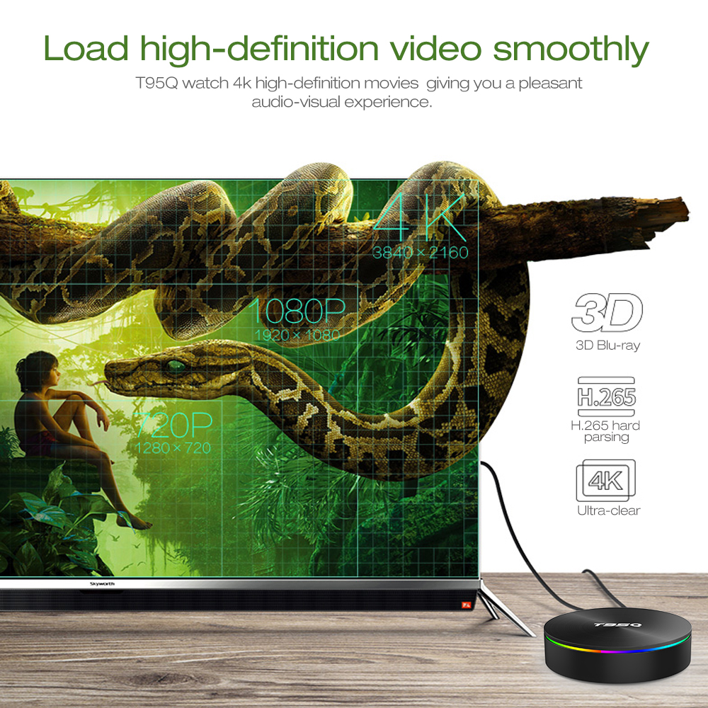 T95Q TV Box 4GB DDR4 + 64GB ROM