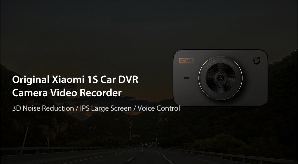 Original Xiaomi 1S Car DVR Camera Video Recorder 140 Degrees Wide Angle 3.0 inch IPS Screen- Black