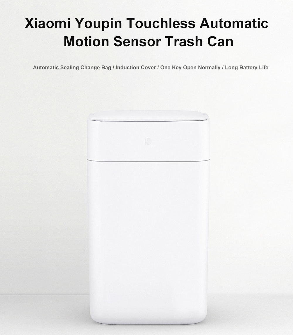 Xiaomi Youpin Intelligent Induction Automatic Motion Sensor Trash Bin - White