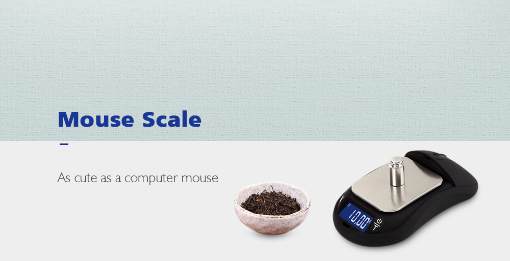 High Precision Mouse Scale for Jewelry- Black 200g / 0.01g