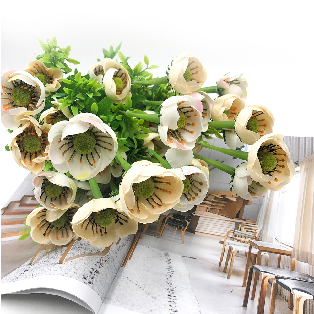 Art Bud Silk Home Living Room Decoration Fiore artificiale- Warm White