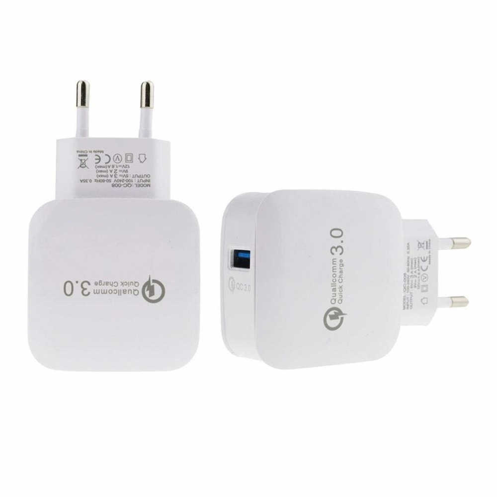 newest b6e74 2854d Quick Charge 3.0 USB Wall Charger Mini Travel Power Adapter for iPhone /  Samsung