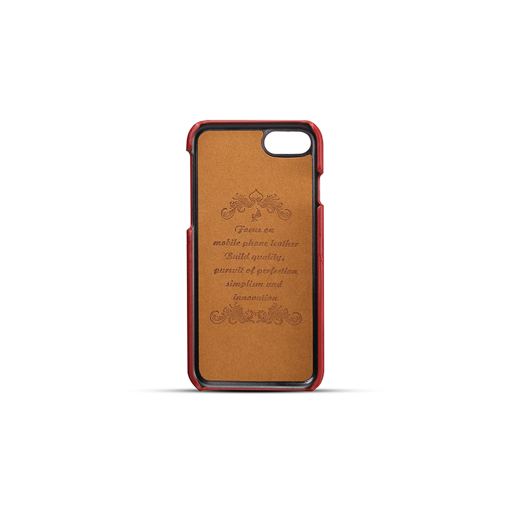 Custodia slim in pelle con portafogli per tessere vintage porta carte per iPhone 7/8- Blue