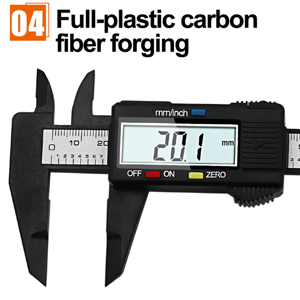 Electronic Digital LCD Thickness Caliper Micrometer Guage 0-12.70mm Carbon Fiber