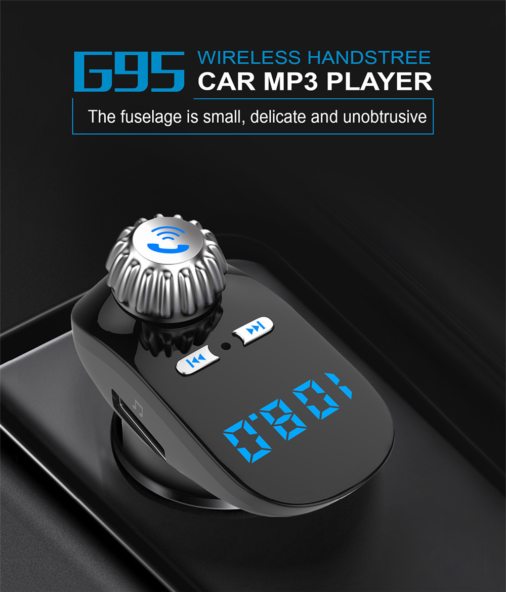 Car Kit Handsfree Wireless BT FM Transmitter LCD MP3 Player USB Charger NO1