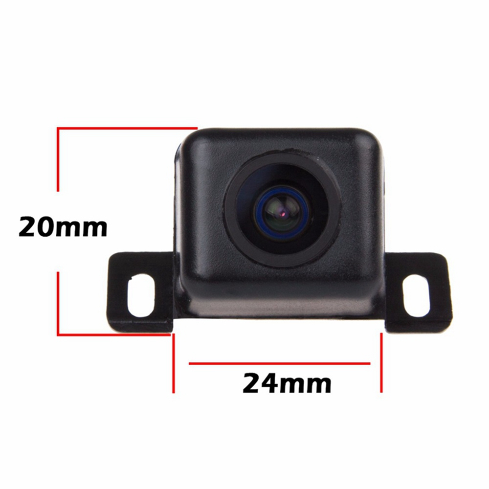 ZIQIAO Universal Wide Angle Car Rear View Camera High Waterproof- Black