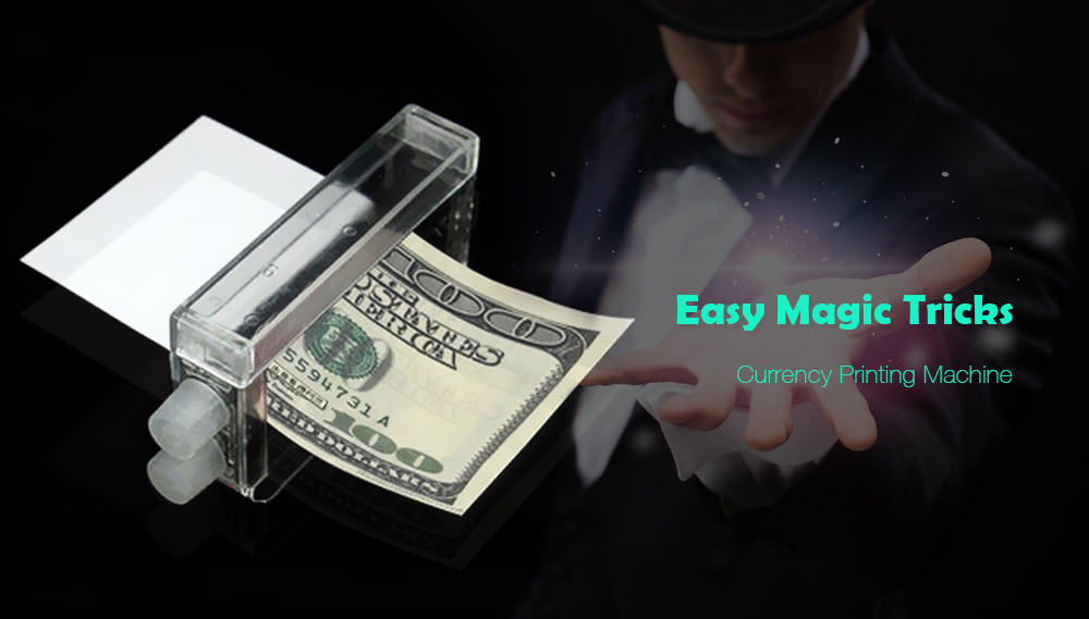 1pc Money Printing Machine Money Maker Easy Magic Trick Toys Magician Props- White