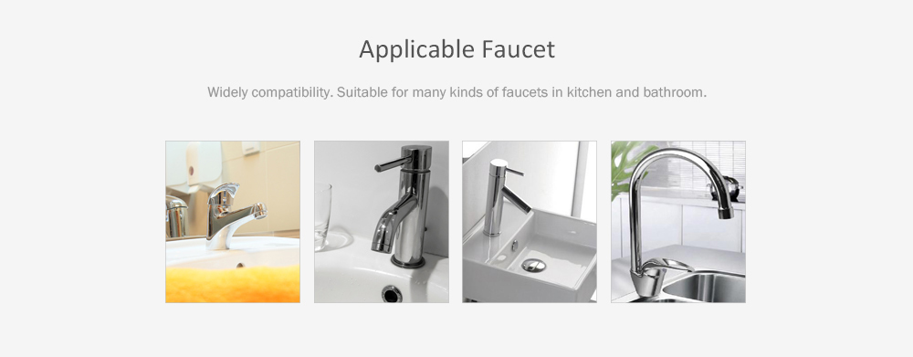 Household Water Purifier Alloy Joint Kitchen Purifier Faucet Filter- Silver