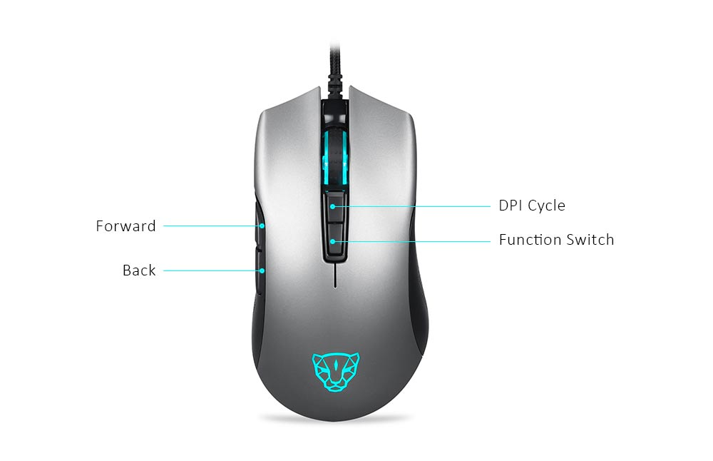 Motospeed V70 3360 Wired Gaming Mouse- Silver