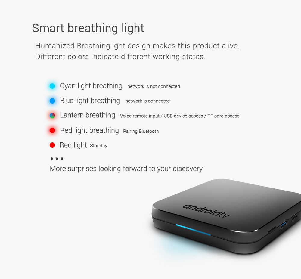 MECOOL KM9 Android TV OS TV Box with Voice Remote For $49 99