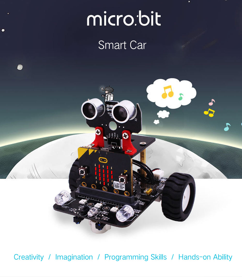 Yahboom Smart Robot Car Kit For Kids Bbc Programmable Toys 7699 Geeky Circuit Board Diy Scientific Stem Education Black