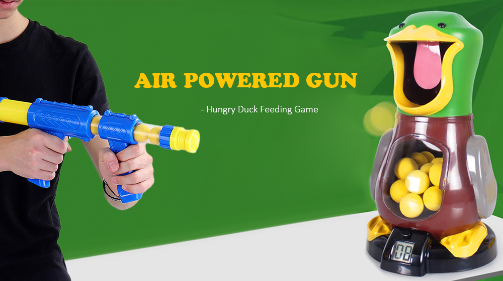 Hit Me Duck Air Powered Gun Boy Safety Soft Bullet Child Toy Hunting Target Shooting Tool- Multi