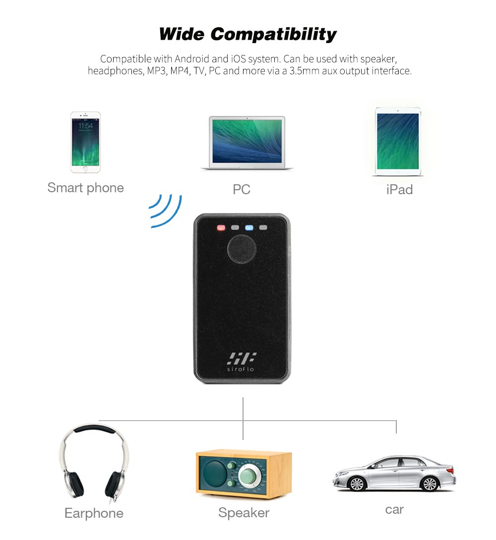 siroflo B8 2-in-1 Bluetooth Transmitter And Receiver