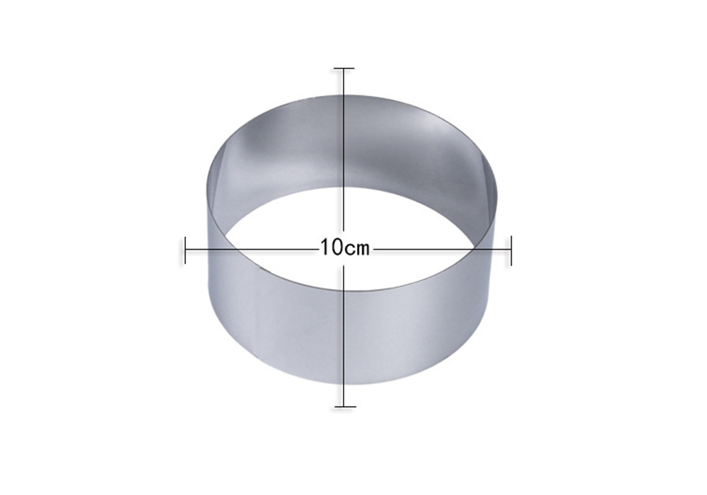 Baking Tools DIY Round 430 Stainless Steel Cake Mold Cookie Mould 3pcs - Silver
