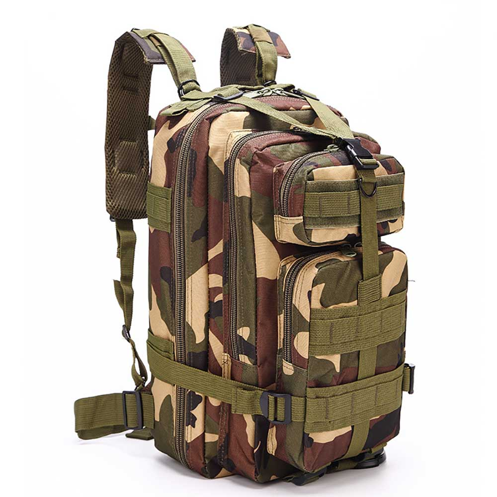 c3b8e6148683 Outdoor Sport Multi-Purpose Waterproof Camouflage Backpack Mountain Hiking-  Woodland Camouflage 24 20