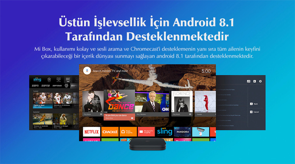 Xiaomi Mi Box S 4K HDR Android TV Streaming Media Player ve Google Asistan