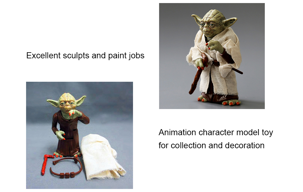 5.1 inch Movable Joint Action Figure Animation Collectible PVC + ABS Figurine- Colormix