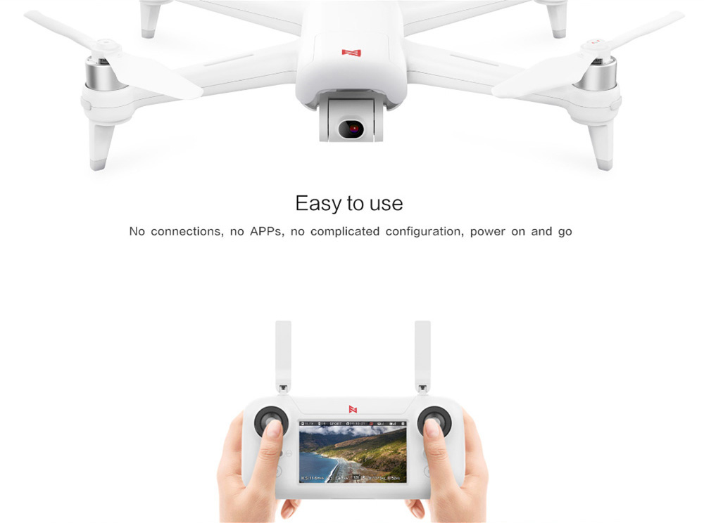 FIMI A3 5.8G 1KM FPV with 2-axis Gimbal 1080P Camera GPS RC Drone Quadcopter RTF - 5.8G FPV ( Xiaomi Ecosystem Product )- White
