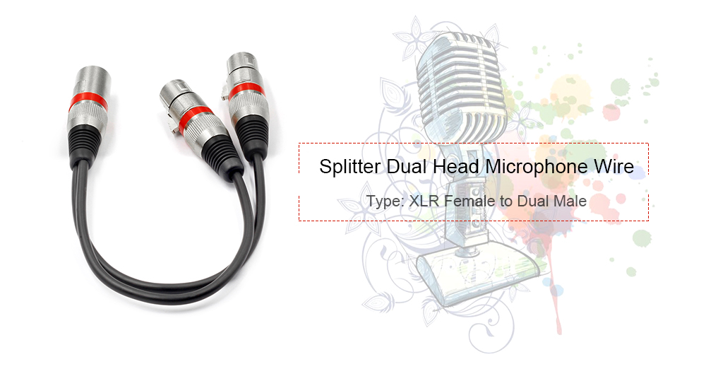 20181026191047_77993 xlr splitter dual xlr male to 3 pin xlr female patch y cable 0 3m