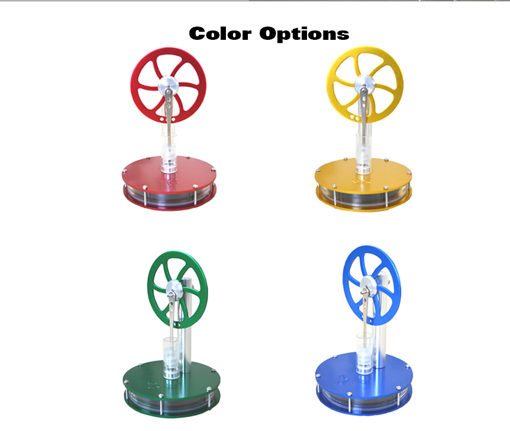 Low Temperature Difference Stirling Engine DIY Toy - Red