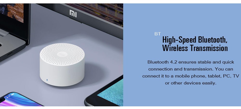 Original Xiaomi MDZ - ZB - DE Portable Bluetooth Speaker- White
