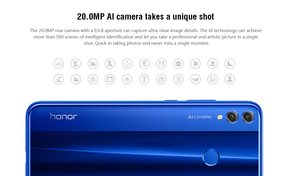 HUAWEI Honor 8X 6 5 inch 4G Phablet English and Chinese Version