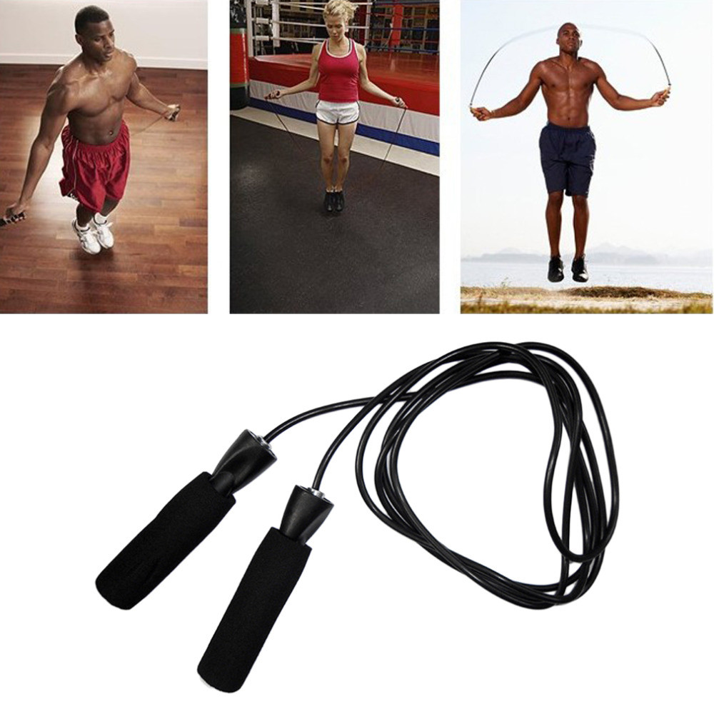 Outdoor Fitness Exercise Bearing Bearing Rope Skipping- Black