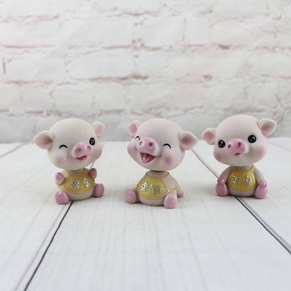 Bless Pig Decoration Decoration Creative Loveliness Shakes Head Piggy Treasure D- #010