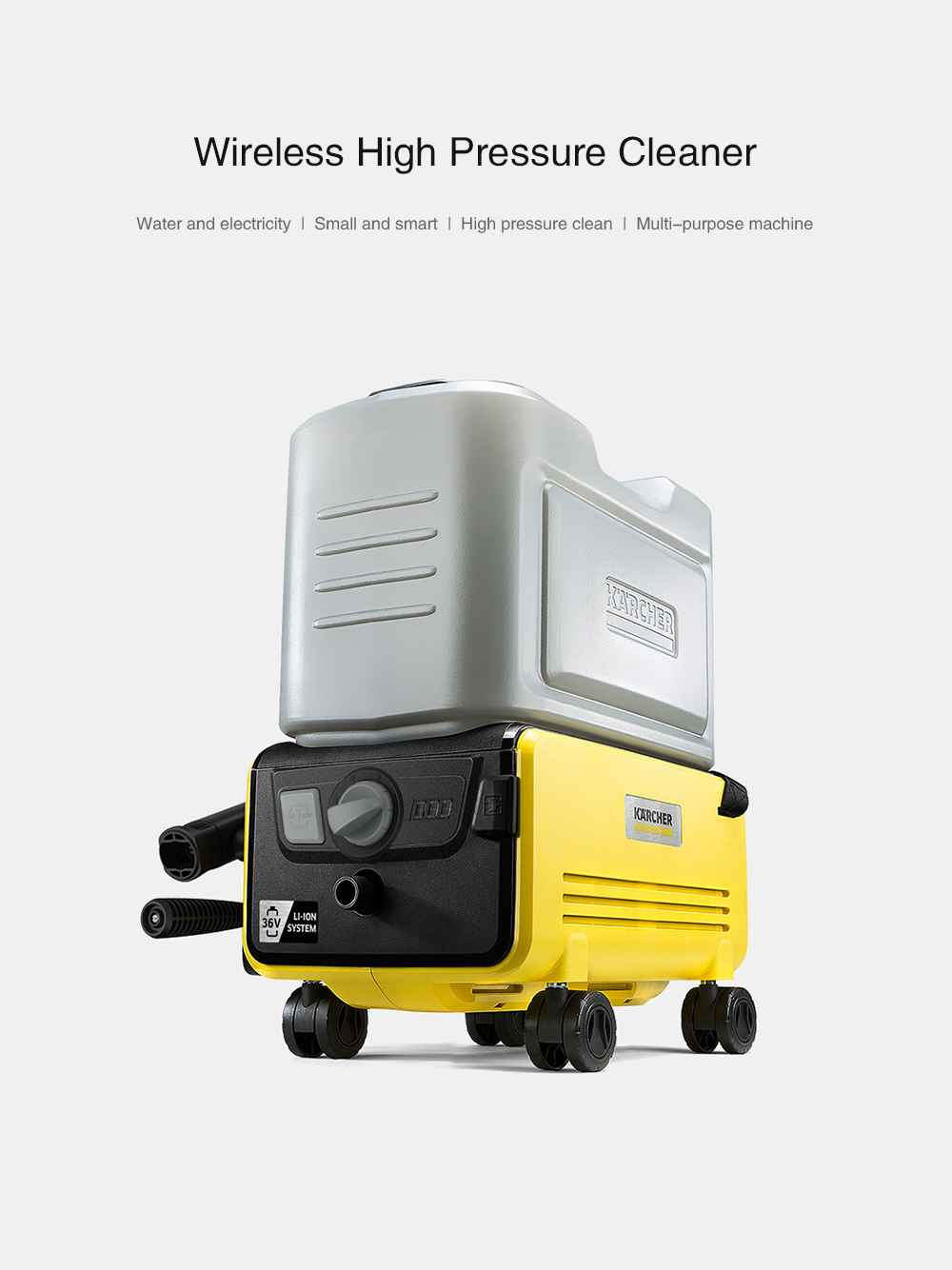 Karcher K2 FM Cordless Wireless Pressure Washer from Xiaomi ypupin- Yellow