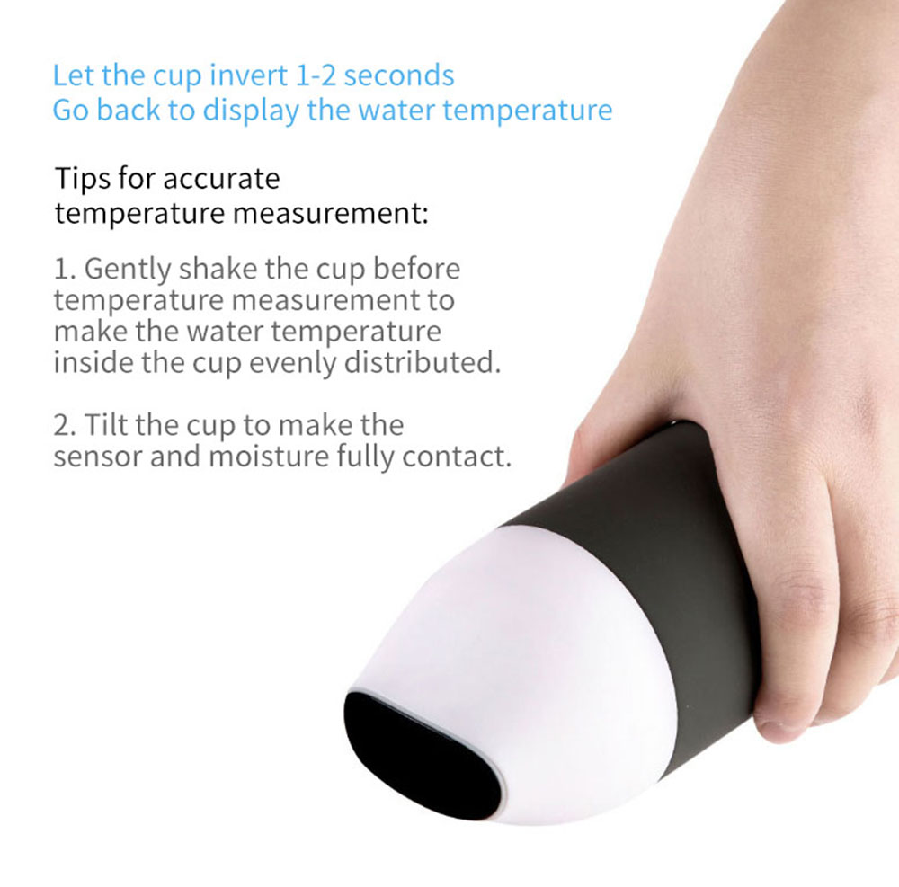 Kiss Fish CC Smart Water Bottle with Temperature Display from Xiaomi youpin- Gray